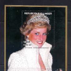 Sellos: NIGER 1997 - LADY DIANA - HB. Lote 262431990