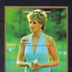 Sellos: NIGER 1997 - LADY DIANA - HB. Lote 262432165