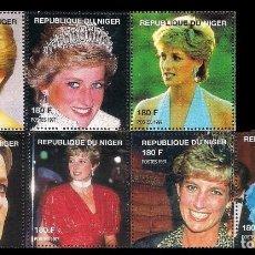 Sellos: NIGER 1997 - LADY DIANA - SELLOS PROCEDENTES DE LA HOJTAS BLOQUE. Lote 266355953