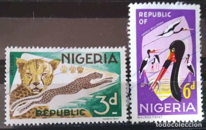 LOTE 2 SELLOS DE NIGERIA (MATASELLADOS) (Sellos - Extranjero - África - Niger)