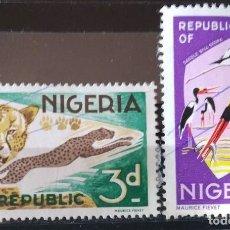 Sellos: LOTE 2 SELLOS DE NIGERIA (MATASELLADOS). Lote 280164898