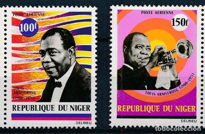 NIGER 1971 AÉREO IVERT 168/9 *** HOMENAJE A LUIS AMSTRONG - MÚSICA - PERSONAJES (Sellos - Extranjero - África - Niger)