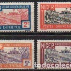 Sellos: NIGER (COLONIA FRANCESA) TASA IVERT Nº 9 A 12, NUEVOS CON SEÑAL DE CHARNELA. Lote 293436958
