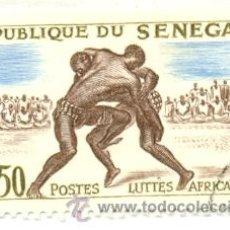 Sellos: 2SENE-205. SELLO USADO SENEGAL. YVERT Nº 205. LUCHA AFRICANA. Lote 18457830