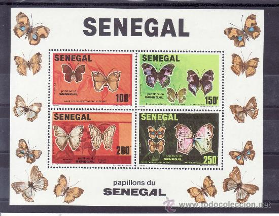SENEGAL HB 25 SIN CHARNELA, FAUNA, MARIPOSAS, (Sellos - Extranjero - África - Senegal)