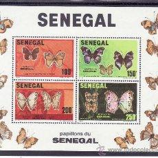 Sellos: SENEGAL HB 25 SIN CHARNELA, FAUNA, MARIPOSAS, . Lote 24302515