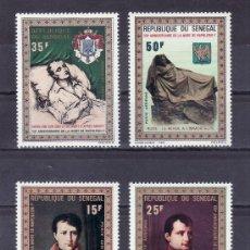 Sellos: SENEGAL A 104/7 SIN CHARNELA, PINTURA, 150º ANIVERSARIO DE LA MUERTE DE NAPOLEON I. Lote 26850855