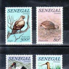 Sellos: SENEGAL 579/82 SIN CHARNELA, FAUNA, PAJAROS . Lote 24302703