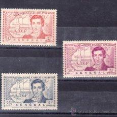 Timbres: SENEGAL 150/2 SIN CHARNELA, CENTENARIO DE LA MUERTE DEL EXPLORADOR RENE CAILLIE. Lote 24302991