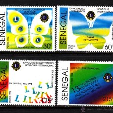 Sellos: SENEGAL 1090/93** - AÑO 1994 - CONGRESO DE LIONS CLUB INTERNACIONAL. Lote 41463051