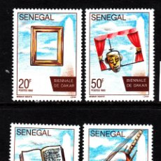 Sellos: SENEGAL 1023/26** - AÑO 1992 - BIENAL DE ARTE DE DAKAR. Lote 42603128
