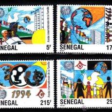 Sellos: SENEGAL 1086/89** - AÑO 1994 - AÑO INTERNACIONAL DE LA FAMILIA. Lote 42603169