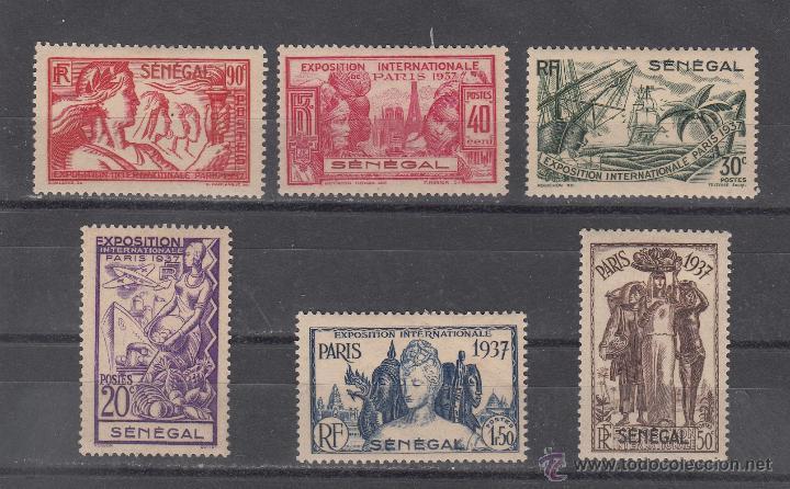 SENEGAL 138/43 CON CHARNELA, EXPOSICION INTERNACIONAL DE PARIS (Sellos - Extranjero - África - Senegal)