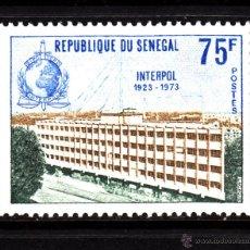 Sellos: SENEGAL 397** - AÑO 1973 - 50º ANIVERSARIO DE INTERPOL. Lote 43916913