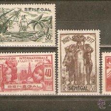 Sellos: SENEGAL COLONIA FRANCESA YVERT NUM. 138/142 NUEVOS CON FIJASELLOS. Lote 43919105