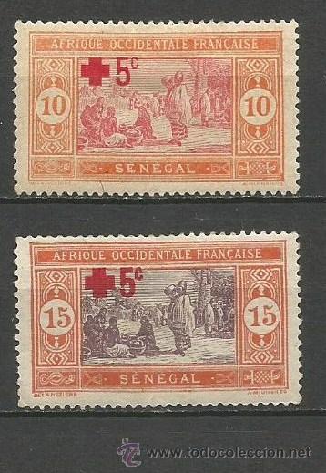 SENEGAL COLONIA FRANCESA YVERT NUM. 70/71 * SERIE COMPLETA CON FIJASELLOS (Sellos - Extranjero - África - Senegal)