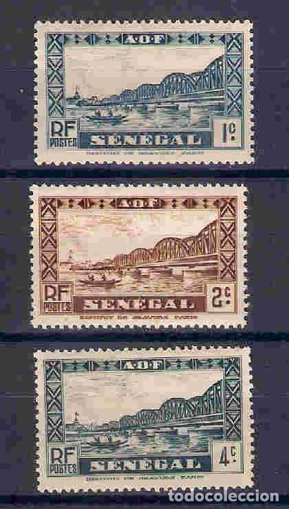 PUENTE FAIDHERBE, SENEGAL. SELLO DEL AÑO 1935 (Sellos - Extranjero - África - Senegal)