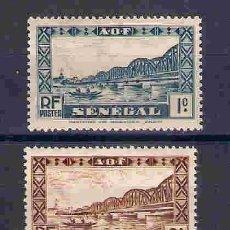Sellos: PUENTE FAIDHERBE, SENEGAL. SELLO DEL AÑO 1935. Lote 80441873