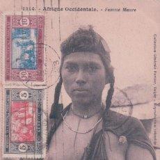 Sellos: POSTAL AFRIQUE OCCIDENTALE - FEMME MAURE - SELLO SENEGAL - I.C.F. 2233/114. Lote 81446080