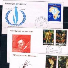 Sellos: SENEGAL. CONJUNTO DE 10 PIEZAS DE HISTORIA POSTAL. Lote 89543536