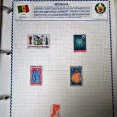 Sellos: SENEGAL, HOJA CON 5 SELLOS DIFERENTES CON CHARNELAS . Lote 99390787