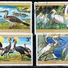 Sellos: SENEGAL - LOTE DE 4 SELLOS - AVES (USADO) LOTE 2. Lote 101682363