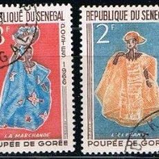 Sellos: SENEGAL - LOTE DE 4 SELLOS - TRAJES TIPICOS (USADO) LOTE 3. Lote 101682619