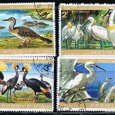 Sellos: SENEGAL - LOTE DE 4 SELLOS - AVES (USADO) LOTE 4. Lote 101682707