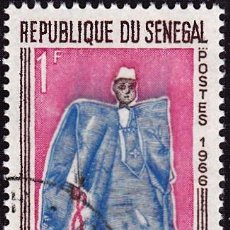 Sellos: 1966 - SENEGAL - MUÑECOS DE GOREE - EL ELEGANTE - YVERT 266. Lote 107231999