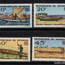 Sellos: SENEGAL 258/61** - AÑO 1965 - EMBARCACIONES TIPICAS - PIRAGUAS. Lote 126555967