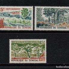 Sellos: SENEGAL 247/49** - AÑO 1965 - PAISAJES. Lote 126556143