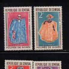 Sellos: SENEGAL 266/69** - AÑO 1966 - ARTESANIA - MUÑECAS DE GOREE. Lote 127435515