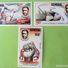 Selos: SENEGAL. 704/06 LUCHA CONTRA EL APARTHEID. 1987. SELLOS NUEVOS Y NUMERACIÓN YVERT.. Lote 134421322