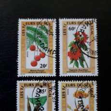 Sellos: SENEGAL. YVERT 781/4. SERIE COMPLETA USADA. FLORA. FLORES.. Lote 137609992