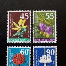 Sellos: SENEGAL. YVERT 280/3. SERIE COMPLETA USADA. FLORA. FLORES.. Lote 137610717