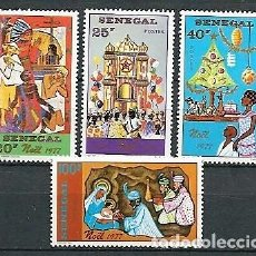 Sellos: SENEGAL,1977,NAVIDAD,NUEVOS,MNH**,YVERT 476-479. Lote 154337894