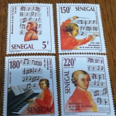 Sellos: SENEGAL: YT. 943/46 MNH, MÚSICA, COMPOSITORES, MOZART, AÑO 1991. Lote 154695920