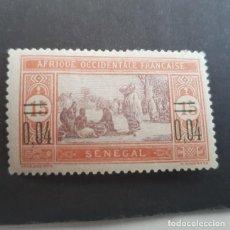Timbres: SENEGAL COLONIA FRANCESA 1922 SENEGALESAS COCINANDO,SOBRECARGA SCOTT 129* YVERT 93,FIJASEL,(LOTE AG). Lote 156717382