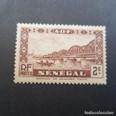 Sellos: SENEGAL COLONIA FRANCESA 1935 PUENTE FAIDHERBE SCOTT 143 YVERT 115,NUEVO SIN GOMA,(LOTE AG). Lote 156721926