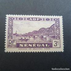 Sellos: SENEGAL COLONIA FRANCESA 1935-1940 PUENTE FAIDHERBE SCOTT 144* YVERT 116*,NUEVO, FIJASELLO,(LOTE AG). Lote 156722878
