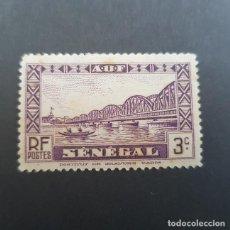 Sellos: SENEGAL COLONIA FRANCESA 1935-1940 PUENTE FAIDHERBE SCOTT 144* YVERT 116*,NUEVO, FIJASELLO,(LOTE AG). Lote 156723018