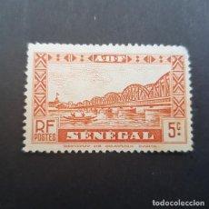 Sellos: SENEGAL COLONIA FRANCESA 1935-1940 PUENTE FAIDHERBE SCOTT 145 YVERT 117,NUEVO SIN GOMA,(LOTE AG). Lote 156723582