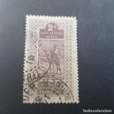 Selos: ALTO SENEGAL Y NÍGER COLONIA FRANCESA 1914-1917 NATIVO EN CAMELLO SCOTT E YVERT 19, USADO,(LOTE AG). Lote 157002398
