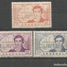 Timbres: SENEGAL COLONIA FRANCESA YVERT NUM. 150/152 SERIE COMPLETA USADA. Lote 166181482