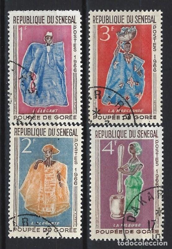 SENEGAL 1966 - MUÑECAS DE GORÉE, S.COMPLETA - SELLOS USADOS (Sellos - Extranjero - África - Senegal)