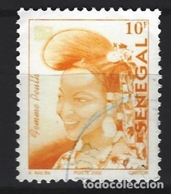 SENEGAL 2002 - MUJER PEULH, SELLO USADO (Sellos - Extranjero - África - Senegal)