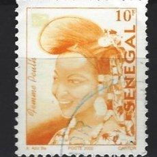 Sellos: SENEGAL 2002 - MUJER PEULH, SELLO USADO. Lote 172449705
