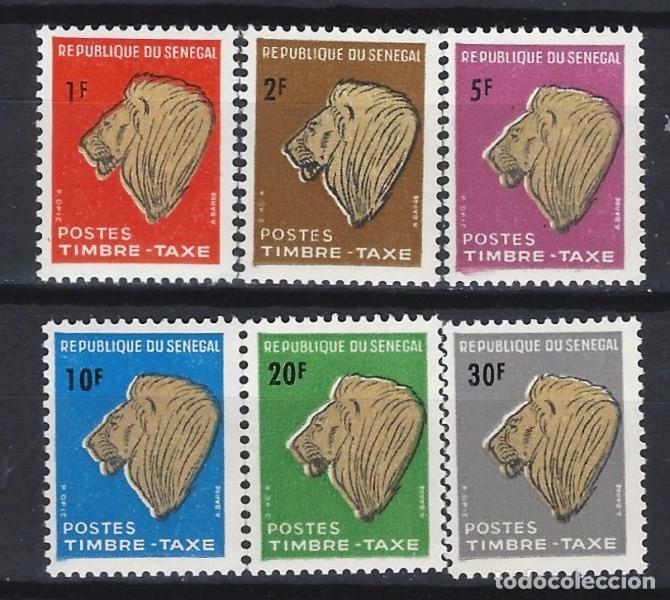 SENEGAL 1983 - CABEZA DE LEÓN, SELLOS DE TAXA, S.COMPLETA - SELLOS NUEVOS ** (Sellos - Extranjero - África - Senegal)