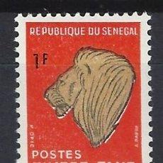 Sellos: SENEGAL 1983 - CABEZA DE LEÓN, SELLO TAXA - SELLO NUEVO **. Lote 173601370
