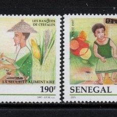 Sellos: SENEGAL 1253/54** - AÑO 1997 - SEGURIDAD ALIMENTARIA. Lote 202006330